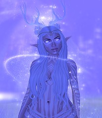 Magical Faun-ness (ColeMarie Soleil (Cole's Corner)) Tags: telrunya winter secondlife sl faun colemarie soleil coles corner fantasy particles special effects ice queen