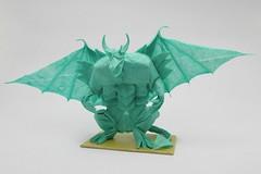 18 Great, Grandiose and Glorious Origami Gargoyles (Origami.me) Tags: origami papercraft paper craft fold folding diy gargoyle