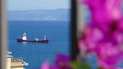 Nave alla fonda (Feffo23) Tags: nave boat stretto strettodimessina sony sonysti sicily sicilia see sole sky sun sea sizilien sonne ship schiff messina fiore flower blumen