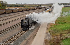 Leaving Marysville Ks Up 844. (Machme92) Tags: unionpacifc up union trains railroad railfanning railroads railfans rails rail row railroading railfan steam usa kansas nikon railroadlife smoke coal