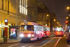 T3SUCS 7121 + 7189 DPP, Karlnsk nmst (cz.fabijan) Tags: tramvaj tram dpp dppraha praha prague t3 t3sucs karln karlnsknmst 24