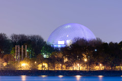 Biosphere, Montreal (Maxim B.) Tags: night biosphere river parc water canada evening quebec montreal