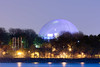 Montreal Biosphere (Maxim B.) Tags: montrealbiosphere jeandrapeau parc park night biosphere river water canada evening quebec montreal memorytrigger