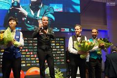 Prize ceremony (Ton Smilde) Tags: danielsanchez eddyleppens semihsayginer heangjikkim biljarten billiardplayers billiards biljarters threecushion worldchampionshipbordeaux