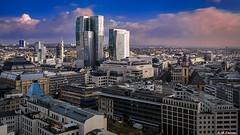 Cluster Innenstadt, Frankfurt am Main (Codex IV) Tags: photoshop samsunggalaxynote4 skyline frankfurtammain hessen deutschland de nextower hoteljumeirahfrankfurt zeil innenstadt cityscape myzeil palaisquartier warm rot blau