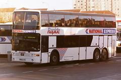 TRATHENS M865TYC (bobbyblack51) Tags: trathens m865tyc volvo b12 vanhool astrobel national express rapide buchanan bus station glasgow 1995