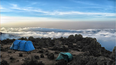 Up on high (Pegthree) Tags: camping kilimanjaro clouds altitude high campsite tents sky landscape outdoors africa tanzania