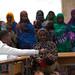Asha Haybe, 34 a mother of 7 children brought her last child Zakariye Abdi who is 18 month to Bariisle Health Post, in Kebribayah woreda