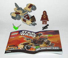 75129 1 lego star wars microfighters series 3 wookie gunship set 2016 a (tjparkside) Tags: 75129 1 lego star wars 2016 sw microfighters series 3 iii three wookie gunship kashyyyk ep episode 2 ii two attack clones revenge sith clone tcw aotc rots rebels missile missiles firing front guns back flap wing wings engine engines crossbow bowcaster weapon blaster disney set