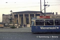 Trambahn Mnchen 1970 Ostbahnhof (Pacific11) Tags: mnchen munich 1970 1971 vintage alt selten bilder bayern ostbahnhof tram trambahn bahnhof train track