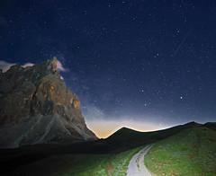 The way to the stars (Robyn Hooz) Tags: stars stelle via lattea milkyway montagne mountains pale sanmartino baita segantini moonlight chiaro luna