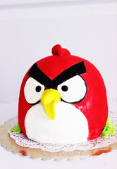 fondant cake (КатяХан) Tags: cake fondantcake торт торты angrybirdscake тортнаденьрождения