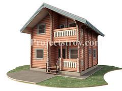 Project home log cabins - laft (projectstroy) Tags: log cabins home homes design 3d rendering drawing house laft lafet plan дом лафет загородный дача малоэтажный строительство деревянный