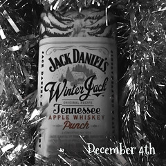 December 4th (Cathy G) Tags: iphone iphone6s iphoneography squareformat photographicadventcalendar2016 christmas festive jackdaniels jack winterjack punch apple warm tinsel