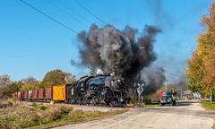 Entering Burnett (kdmadore) Tags: steamlocomotive steam soo1003 soo train railroad wisconsinsouthern wsor mikado sooline steamengine