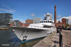 Lady Sandals (das boot 160) Tags: sea port liverpool docks river boats boat dock ship ships maritime motoryacht mersey docking rivermersey canningdock privateyacht merseyshipping ladysandals