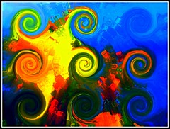 Abstract Design Created On Paint Shop Pro 6 From A Photo Of A Yellow Flower That I Took On July 11, 2015 - Work Created by STEVEN CHATEAUNEUF On August 15, 2015 (snc145) Tags: colors beautiful design photo colorful pretty artistic digitalart creative swirl soe curlyqs editedimage paintshoppro6 flickrunitedaward aviaryediting stevenchateauneuf july112015 august152015