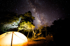 Camping South Rim of Chisos mountains