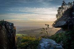 Slack Rocks (ste-thomp25) Tags: sunset sky cliff lines landscape golden rocks outdoor yorkshire explore northeast northyorkshire crag protrusions abigfave