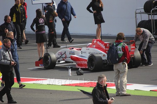 Kevin Jörg on the grid for the first Renault 2.0 race at Silverstone 2015