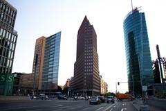 Potsdamer Platz (theblueraindrop) Tags: street city building berlin architecture germany potsdamerplatz scyscrape