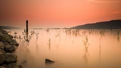 misty river (drwhimsy) Tags: longexposure sunset mist oregon river columbia cotcmostinteresting neutraldensityfilter roosterrockstatepark youvsthebest 3stopsinghrayreversegradndf 186stopbwndf thepinnaclehof