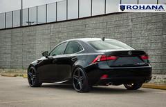 Lexus IS250 - RC8 Matte Black (8) (Rohana Wheels) Tags: wheels toyota rims concave lexus trd luxurycar rohana is250 lexusis250 rc8 luxurywheels fsport rcseries rohanawheels