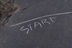 start (stephen trinder) Tags: newzealand christchurch tarmac race start landscape chalk path line nz lettering kiwi christchurchnewzealand stephentrinder stephentrinderphotography