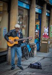 Busker, ner the market in Cambridge (lizzieisdizzy) Tags: city cambridge alone singing guitar song beggar singer busker citycentre soloartist