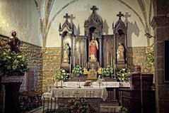 Iglesia de San Lorenzo (Charlemagne OP) Tags: espaa church interior asturias altar noriega ribadedeva