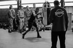 Boxers training with Army Commando (sophie_merlo) Tags: sport army boxing