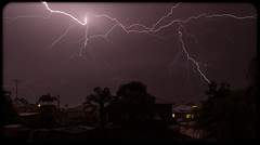Lightning from my back steps in Greenslopes (Craig Jewell Photography) Tags: yard iso100 suburban australia brisbane lightning 16mm f11 2015 greenslopes 0ev 300sec ef1635mmf28liiusm canoneos1dmarkiv filename20151105225830x0k1367cr2