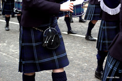 Swaying to the beat of the Bagpipes (mootzie) Tags: blue black silver scotland drum pipe band scottish aberdeen marching bagpipes kilts tartan swaying sporran sgiandubh