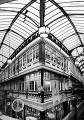 Monochrome (Sophie Louise Cowdrey) Tags: blackandwhite man building monochrome beautiful wales architecture contrast point vanishingpoint view pov steel cymru perspective cardiff style structure architectural manmade strong vanishing reinforced