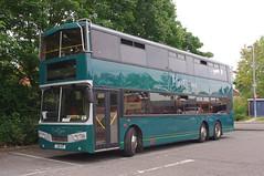 DB1028.  1992 Leyland Olympian / Alexander. (Ron Fisher) Tags: bus pentax transport hampshire publictransport farnborough doubledecker mortons leyland pentaxkx 6wheeler farnboroughstation leylandolympian railreplacementbus 3axle sixwheeler farnboroughmain threeaxle