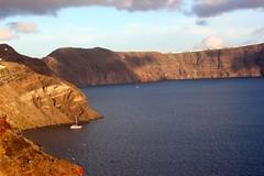 Glorious sunset (Nagarjun) Tags: blue sunset sun white church island volcano evening europe glow santorini caldera oia cyclades mediterranian firostefani aegeansea