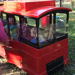 """Paul and Inde Ride a Train at Sonny Acres • <a style=""""font-size:0.8em;"""" href=""""http://www.flickr.com/photos/109120354@N07/23198560896/"""" target=""""_blank"""">View on Flickr</a>"""