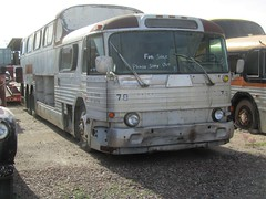 Retired Greyhound Scenicruiser Bus (MR38.) Tags: greyhound bus retired scenicruiser