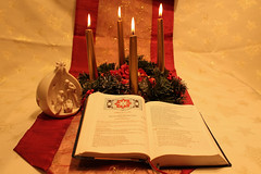 Christmas traditions (christina.marsh25) Tags: advent adventwreath wreath nativity midnightmass missal christmastraditions vigilmass fourthsundayofadvent nativitycandle