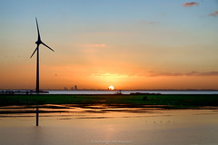 Sustainable (Boudewijn Vermeulen) Tags: sea orange lake seascape mill water windmill sunrise reflections landscape reflecting solar environmental velvia alternative sustainable sustainability waterland windenergy windmolen monnickendam windenergie milieu zonsopkomst duurzaam zonneenergie