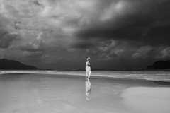 """B&W Shangri-La"" (helmet13) Tags: she summer vacation sky bw woman beach beauty clouds island raw space indianocean bikini silence tropical seychelles lowtide sandbank waterreflection aoi 300faves peaceaward heartaward platinumheartaward world100f platinumheartshalloffame platinumpeaceaward bestportraitsaoi d800e"