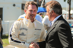 Christian & Jean (NaPCo74) Tags: christian horner jean alesi formula one un uno formule f1 star driver legend ferrari red bull paddock pits boss goodwood revival 2016 sussex uk lord march chichester historic classic car racing team manager scuderia jeannot world champion championship