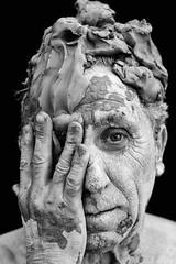 the clay man #1 [Explored on 10/24/2016] (Claudia Merighi) Tags: portrait porträt portraiture art photoart blackandwhitephotos blackandwhite blackandwhiteonly blackwhitephotos blancoynegro noiretblanc bleksvart biancoenero bnbwbwbiancoenero claudiamerighi pentaxk3 k3 ricoh ricohimages uomodicreta