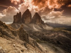 The Big three. (Huub wolfs photography) Tags: alpes natur em1 omd1 italia zuiko olympus light storm dolomites landscapes italy mountains nature dreizinnen trecimedilaveredo