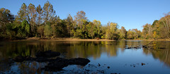 Rivanna River Panorama (scott_clark) Tags: rivannariver riverviewpark river water panorama widescreen nature outdoors fall autumn landscape slta77 sony1680mm