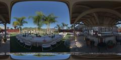 Garden Party (Likon) Tags: escondido outdoor party equirectangular mirrorball panorama gazebo mountains palmtrees