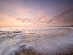 Incoming (Andrew H-W) Tags: lee autumn water landscape sunset season weather graduated 2016 imagetype filters 2stop gran beach tripod 06 waves time clouds keyhaven hampshire places seascape sea hard uk andrewhaywardwills