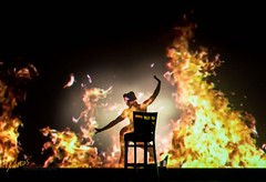 Maria Silhouette (Kostas Trovas) Tags: shadow portrait performingarts sensual burlesque dance dancer pose sexy flame aerialists silhouette beautiful woman slim showperformance acrobats mariaartim highiso ef50mmf18stm