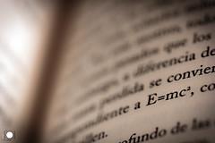 Relativity (ortadilla) Tags: relativo relative emc2 texto text blanco negro blancoynegro blanck white blackandwhite byn bn bw libro book macro 90mm einstein
