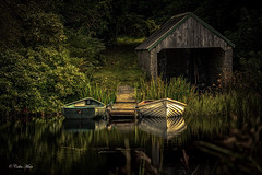 The Boathouse - 2016-08-25 13-31-35 - DSC05830-HDR (colin.mair) Tags: dunskey gardens galloway scotland new loch boat shed reflection sony ilce6000